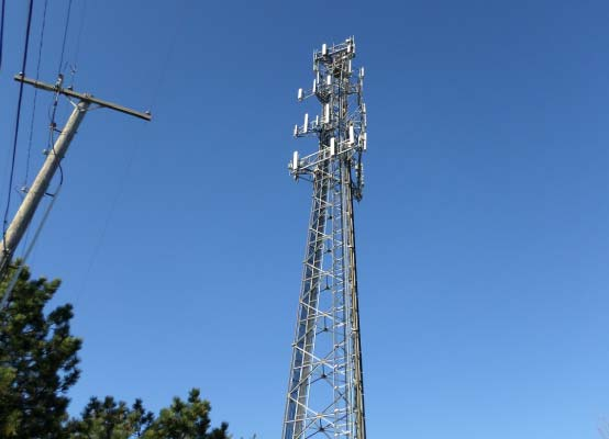 cellular antennas on communications tower