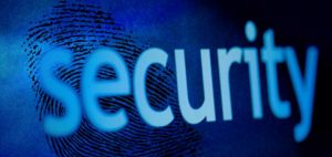 the word security on top of fingerprint